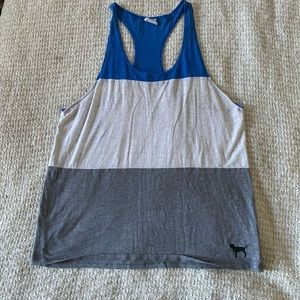 Tank color lock in grey white blue from vs pink